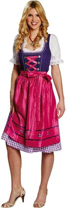 Dirndl lila-pink Gr.44 - 3-teilig, Rock, Bluse und