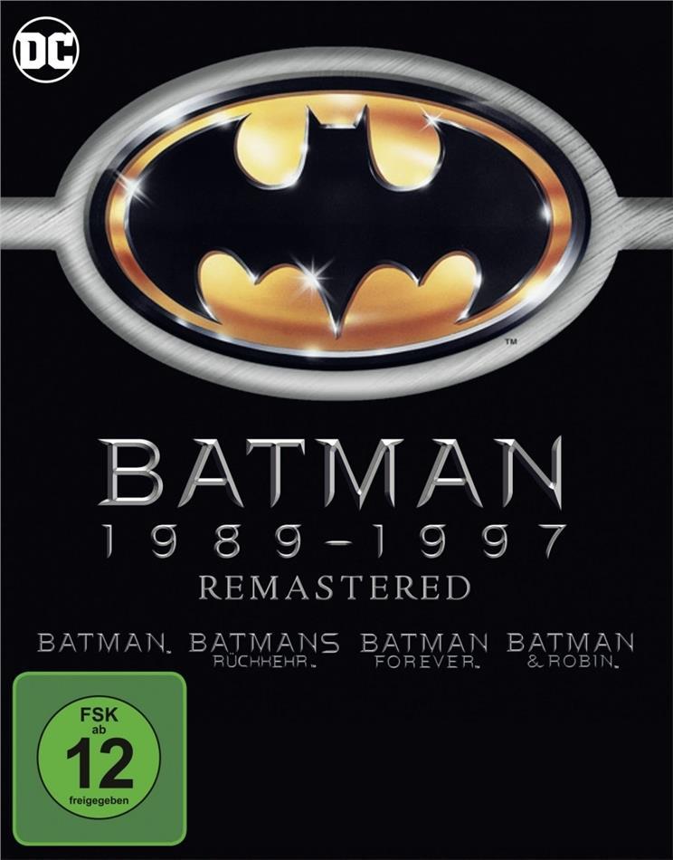 Batman 1989-1997 (Remastered, 4 Blu-rays)