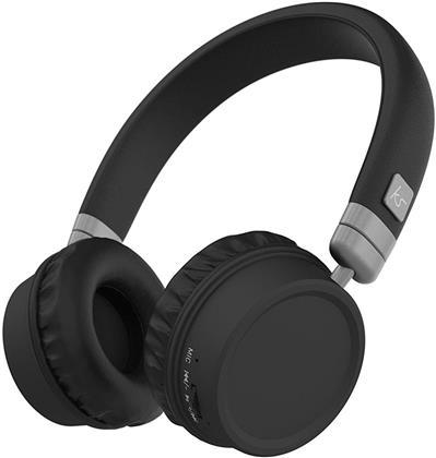KitSound Harlem 2 Wireless BT Over Ear Headphones - black
