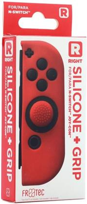 Switch Joy Con Silicone Skin + Grip - Right - Red