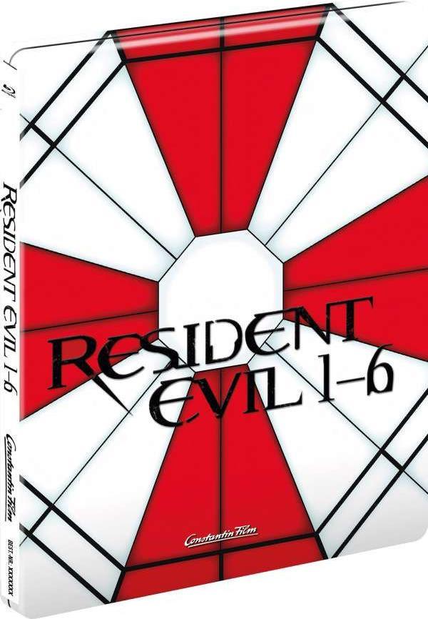 Resident Evil 1-6 (Limited Edition, Steelbook, 6 Blu-rays)