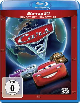 Cars 2 (2011) (New Edition, Blu-ray 3D + Blu-ray)
