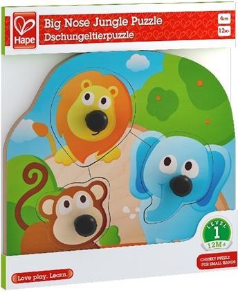 Hape Knopfpuzzle Dschungeltiere - 4 Teile Kinderpuzzle