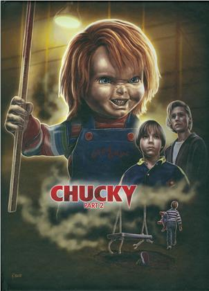 Chucky 2 (1990) (Cover A, Limited Edition, Mediabook, Uncut, Blu-ray + Hörbuch)