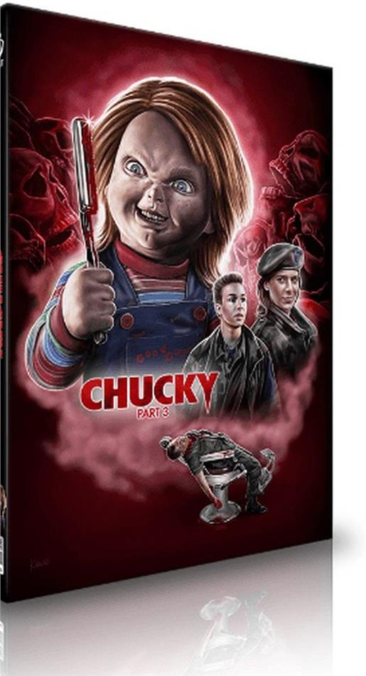 Chucky 3 (1991) (Cover A, Limited Edition, Mediabook, Uncut, Blu-ray + CD)