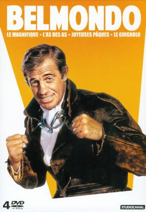 Belmondo - Le Magnifique / L'As des as / Joyeuses Pâques / Le Guignolo (4 DVD)