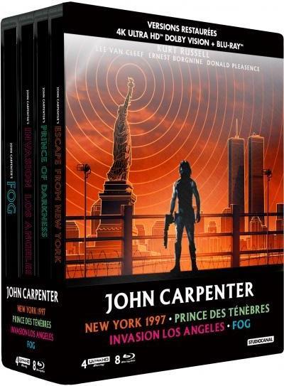 John Carpenter - New York 1997 / Prince des ténèbres / Invasion Los Angeles / Fog (Limited Edition, Steelbook, 4 4K Ultra HDs + 8 Blu-rays)