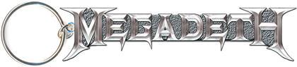 Megadeth Keychain - Grey Logo (Die-cast Relief)