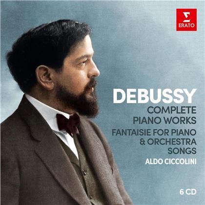Claude Debussy (1862-1918) & Aldo Ciccolini - Sämtliche Klavierwerke (6 CDs)
