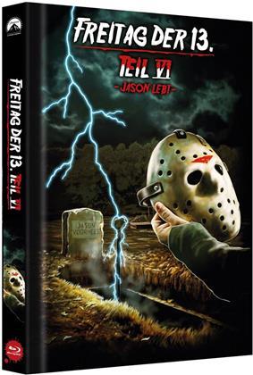Freitag der 13. - Teil 6 - Jason lebt (1986) (Cover C, Limited Collector's Edition, Mediabook)