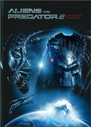 Aliens vs. Predator 2 (2007) (Cover A, Extended Edition, Edizione Limitata, Mediabook, Unrated, Blu-ray + DVD)