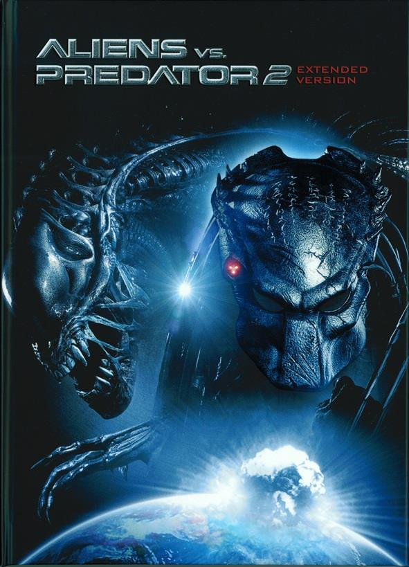 Aliens vs. Predator 2 (2007) (Cover A, Extended Edition, Limited Edition, Mediabook, Unrated, Blu-ray + DVD)