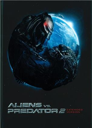 Aliens vs. Predator 2 (2007) (Cover C, Extended Edition, Edizione Limitata, Mediabook, Unrated, Blu-ray + DVD)