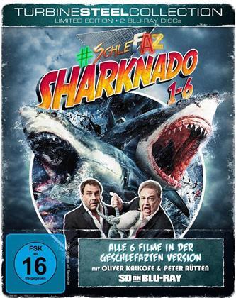 Sharknado 1-6 (Turbine Steel Collection, SD on Bluray, SchleFaZ - Die schlechtesten Filme aller Zeiten, Limited Edition, Steelbook, 2 Blu-rays)