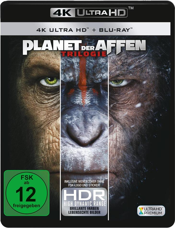 Planet der Affen - Trilogie (3 4K Ultra HDs + 3 Blu-rays)