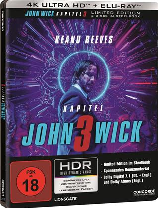 John Wick 3 - Parabellum (2019) (Limited Edition, Steelbook, 4K Ultra HD + Blu-ray)