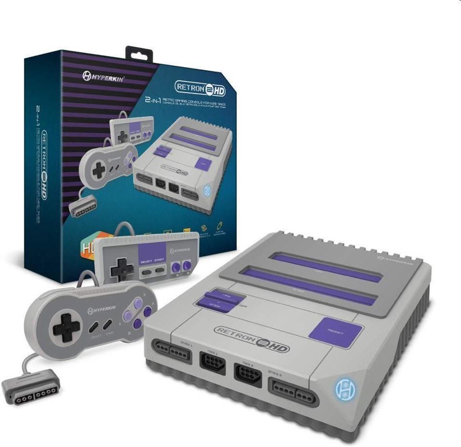 Retron 2 HD Hyperskin NES SNES Konsole inkl. 2 Controller