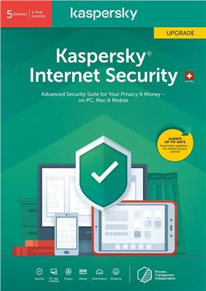 Kaspersky Internet Security (5 PC) Upgrade [PC/Mac/Android]
