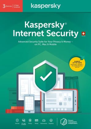 Kaspersky Internet Security (3 PC) [PC/Mac/Android]
