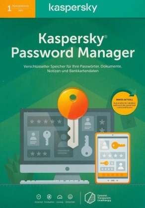 Kaspersky Password Manager [1 PC] [PC/Mac/Android/iOS]