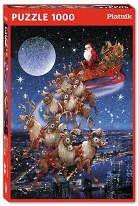 Weihnachtsschlitten - 1000 Teile Puzzle