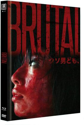 Brutal (Cover C, Limited Edition, Mediabook, Uncut, Blu-ray + DVD)