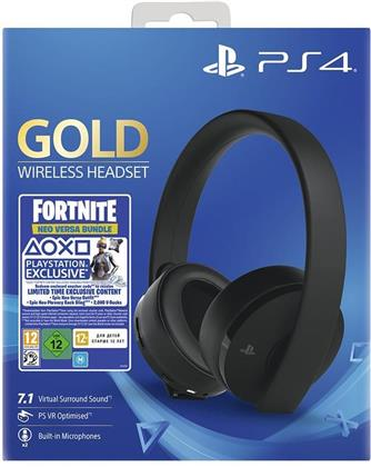 PS4 Headset original Gold Edition Sony 7.1. VR optimiert - (Fortnite Neo Versa Edition)