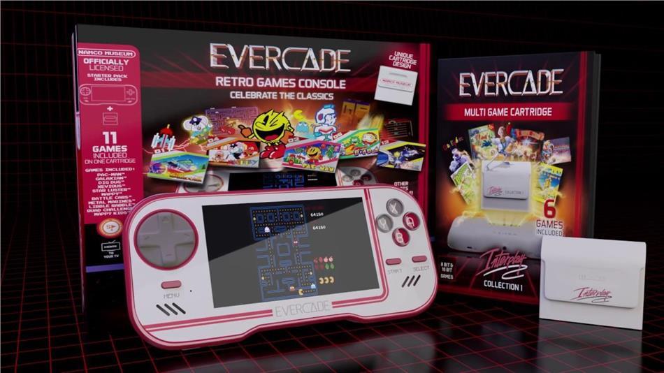 Blaze Evercade Premium Pack + Namco Cart 1 - Atari Cart 1 & Interplay Cart 1.