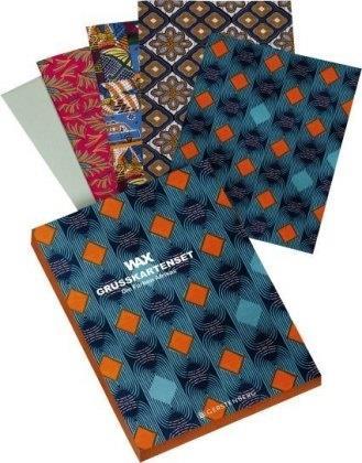 WAX Grußkarten-Set - Die Farben Afrikas