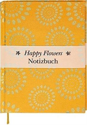 Happy Flowers - Notizbuch gross
