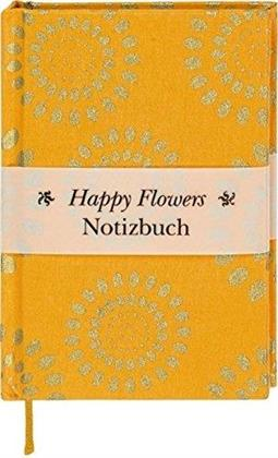 Happy Flowers - Notizbuch klein, liniert