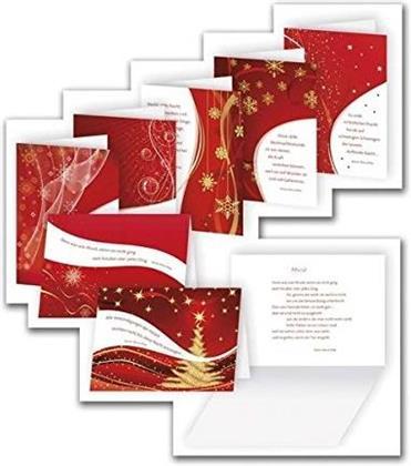 Rainer Maria Rilke Weihnachtskarten mit Umschlägen - 8 Stück