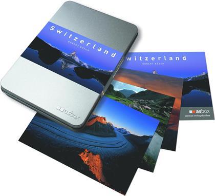 Switzerland - Alubox mit 50 Postkarten