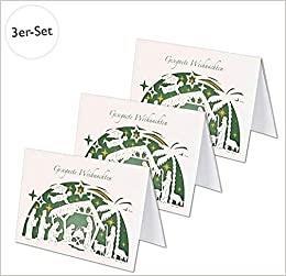 Gesegnete Weihnachten Scherenschnittkarte - 3er-Set