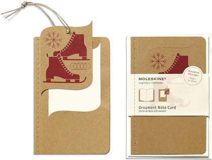 Ornament Note Card Pocket Ice Skates