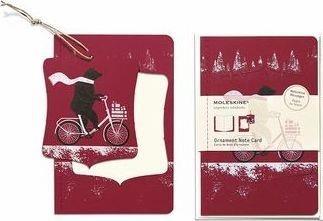 Ornament Note Card Large Cycling Bear