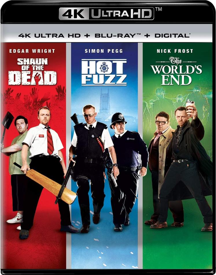 Shaun of the Dead / Hot Fuzz / The World's End - Cornetto Trilogy (3 4K Ultra HDs + 3 Blu-rays)
