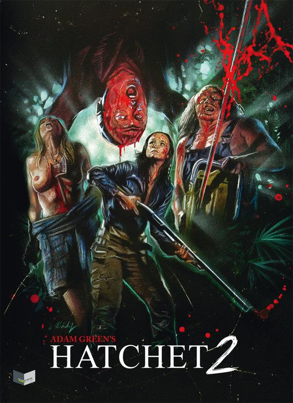 Hatchet 2 (2010) (Cover A, Limited Collector's Edition, Mediabook, Uncut, Blu-ray + DVD)