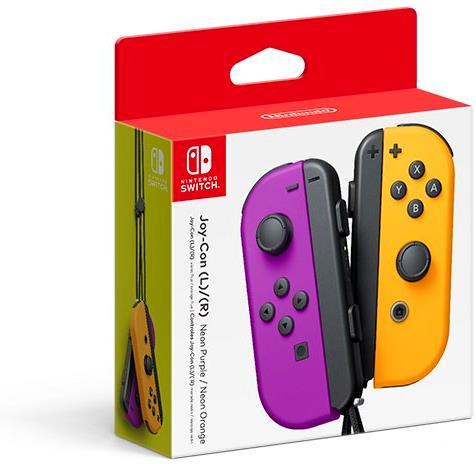 Switch Joy Con Controller Neon Purple/Neon Orange