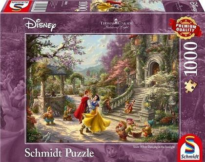 Thomas Kinkade: Disney Schneewittchen Tanz mit dem Prinzen - 1000 Teile Puzzle