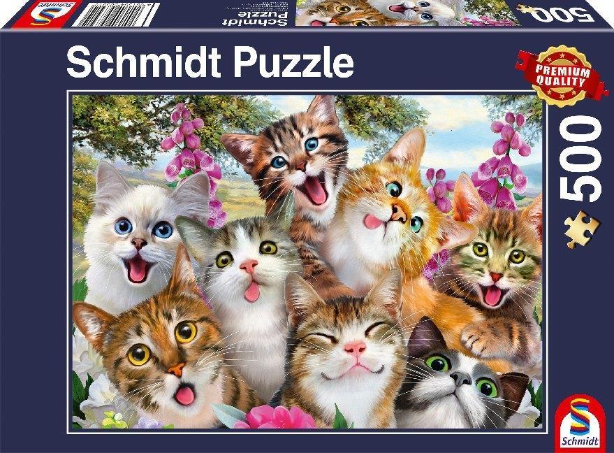 Katzen Selfie - 500 Teile Puzzle
