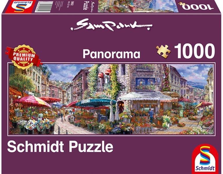 Frühlingsatmosphäre - 1000 Teile Panorama Puzzle