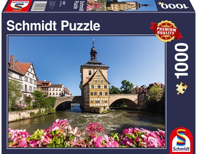 Bamberg: Regnitz und Altes Rathaus - 1000 Teile Puzzle