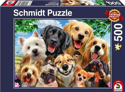 Hunde Selfie - 500 Teile Puzzle