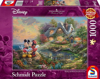 Thomas Kinkade: Disney Sweethearts Mickey & Minnie - 1000 Teile Puzzle