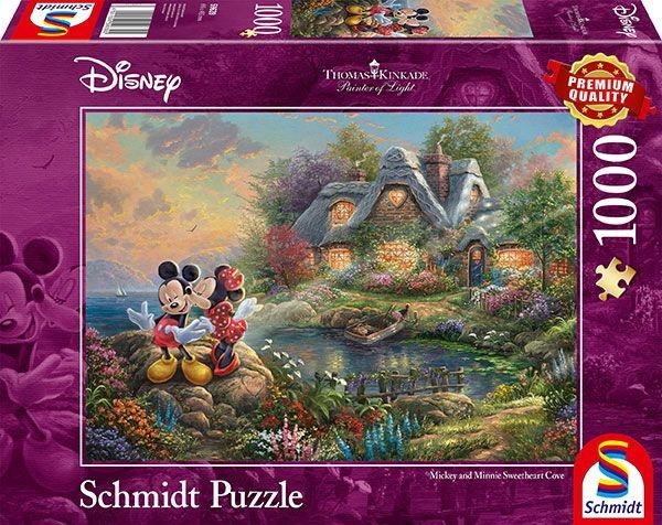 Thomas Kinkade: Disney Sweethearts Mickey & Minnie - 1000 Teile Puzzle