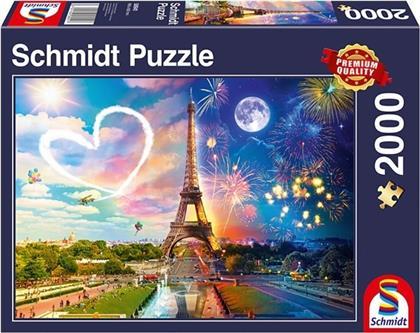Paris Tag und Nacht - 2000 Teile Puzzle