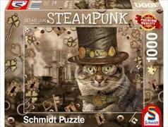 Steampunk Katze - 1000 Teile Puzzle
