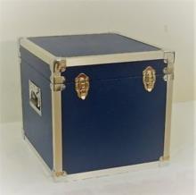 Blue - 100 LP Record Storage Carry Case