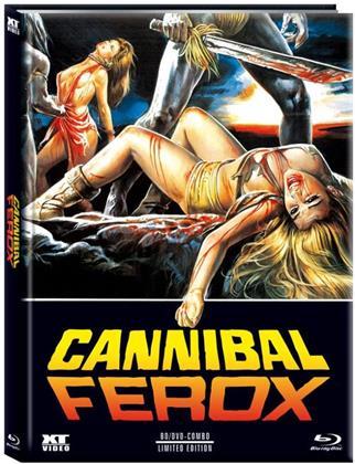 Cannibal Ferox (1981) (Cover B, Limited Edition, Mediabook, Blu-ray + DVD)